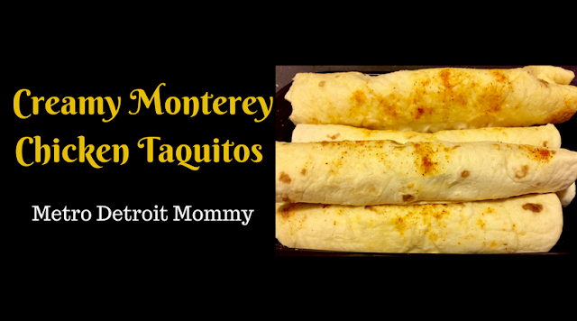 Creamy Monterey Chicken Taquitos