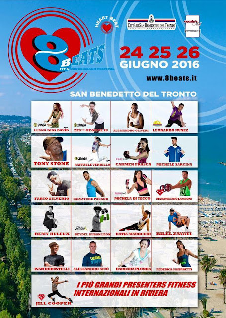 8Beats Fit and Dance Beach Festival, 24-25-26 Giugno 2016 a San Benedetto del Tronto, Ascoli-Piceno