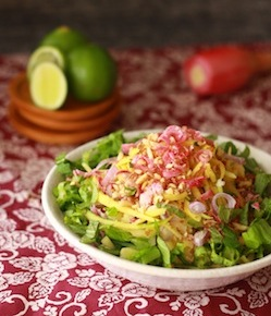 colorful asian salad based on asam laksa spices & herbs