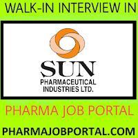 SUN PHARMA LTD Walk-In Interviews at 1 to 3 November