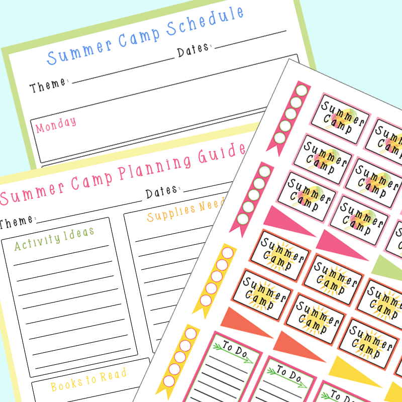 How To Plan A Summer Camp At Home Free Printable Sunny Day Family