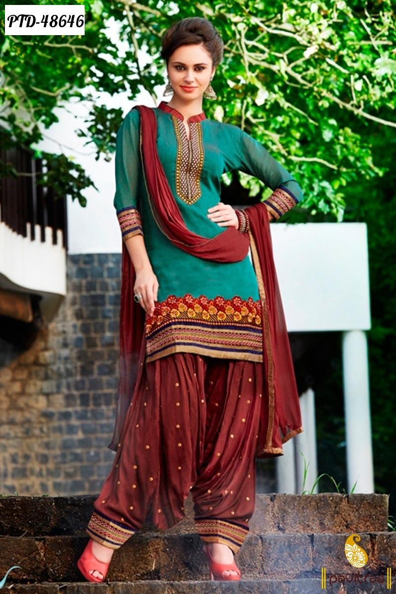 Latest Fashion Punjabi Patiala Ladies Salwar Suits 2015