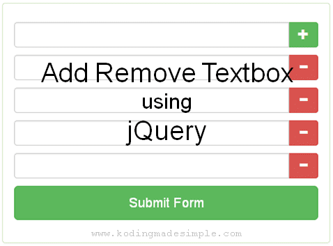 dynamically add remove textbox using jquery php bootstrap