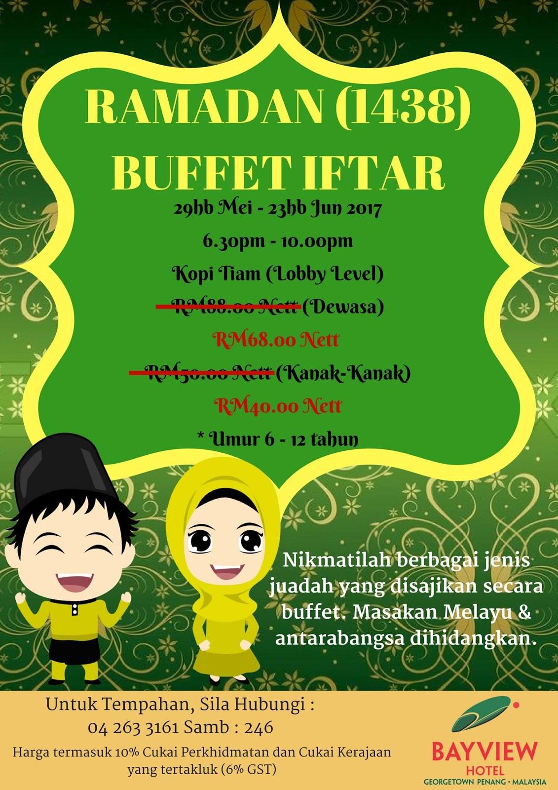buffet ramadhan bayview hotel penang