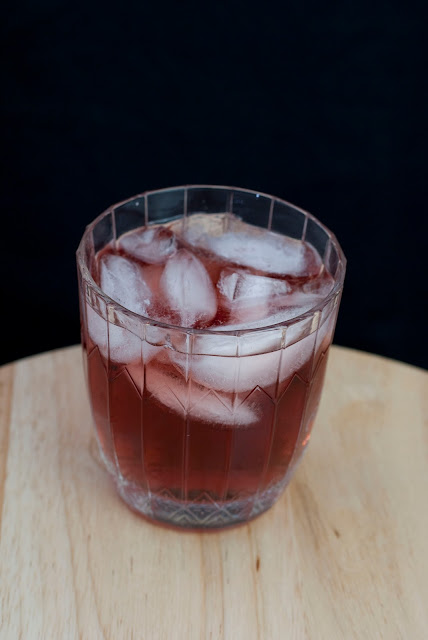 Royal flush cocktail, poker, crown royal, peach schnapps, chambord, cranberry juice, black raspberry liqueur
