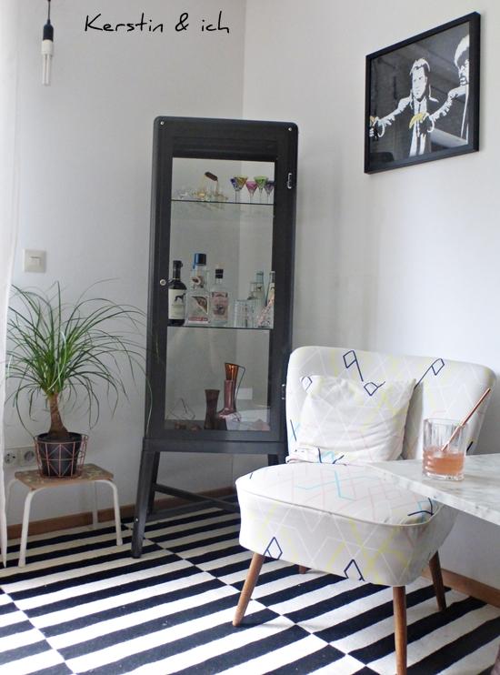 Lounge-Ecke im Vintage Style