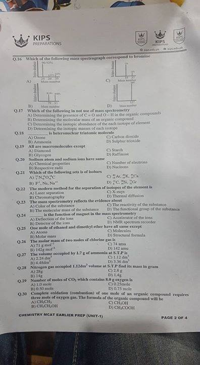 All Exam Soloutions And Notes: Chapter 1 Chemistry Kips test