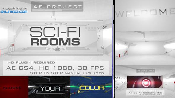 قالب افترافكت تحميل مجانى | Sci-Fi Rooms