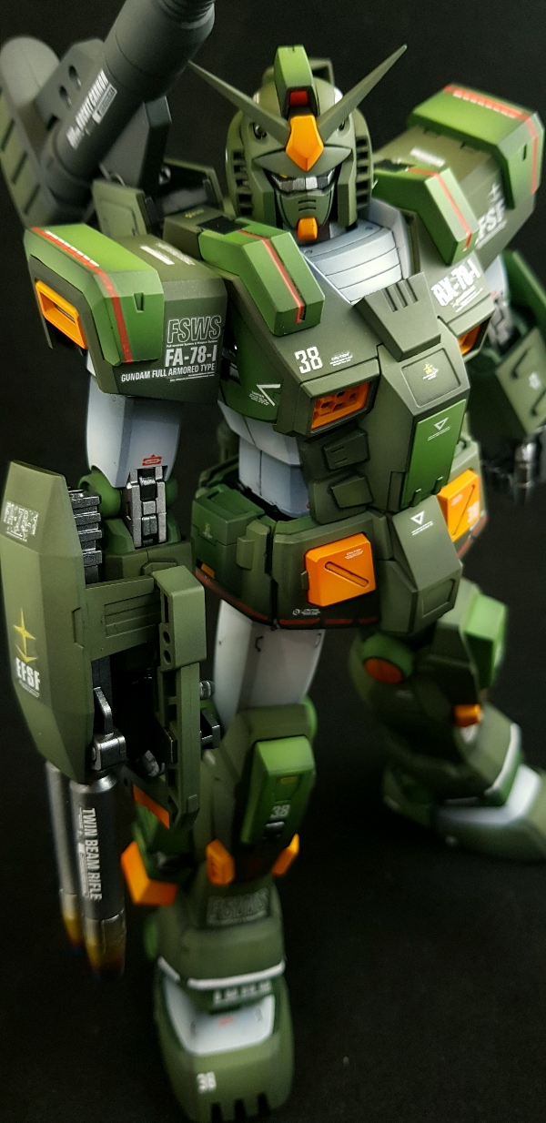 Painted Build Mg 1 100 Fa 78 1 Full Armor Gundam Gundam Kits Collection News And Reviews