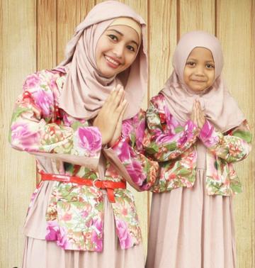 Model baju muslim anak perempuan bangbis Baju gamis couple ibu ayah anak