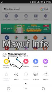 2 Cara Mudah Mematikan/Mengaktifkan Adblock UC Browser Terbaru