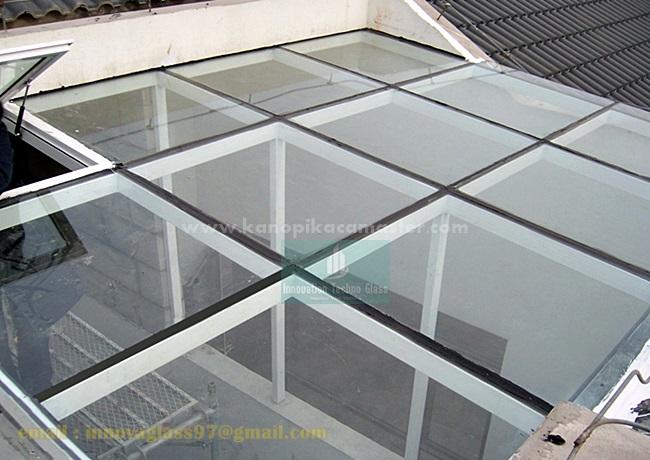 Atap Kaca Untuk Dapur Modern Pasang Kanopi Kaca Tempered Harga Murah