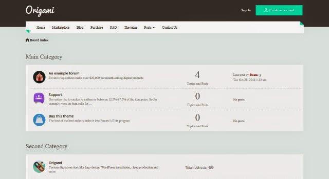 25 free and premium vbulletin phpbb3 xenforo mybb themes origami creative responsive phpbb3 theme maxwellsz