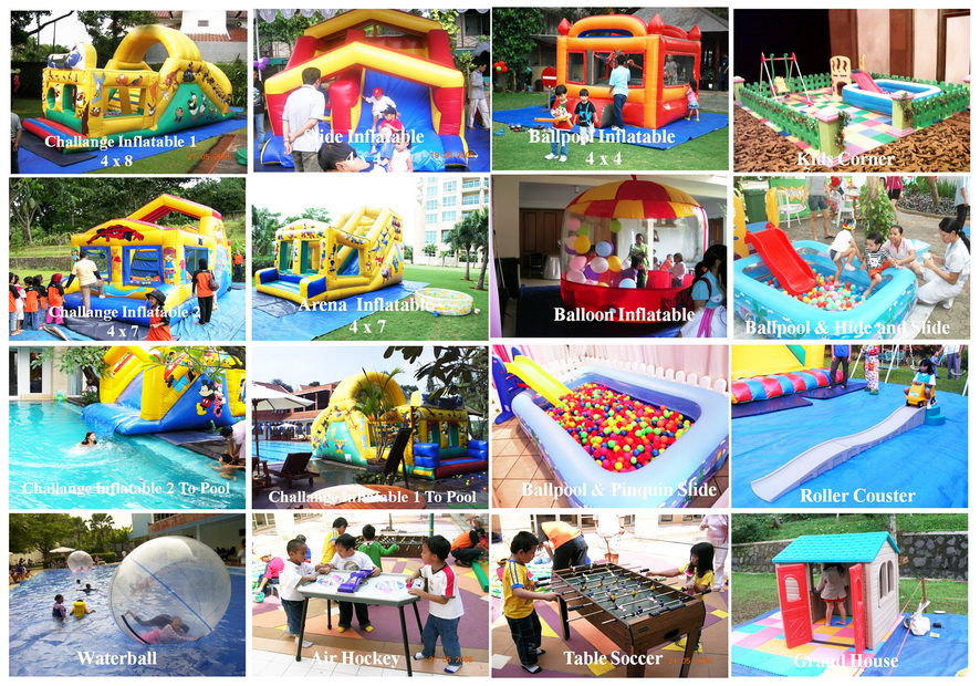 Rental sewa aneka mainan dan arena permainan anak for Dekorasi pool party