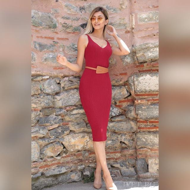 Μεσάτο μίντι φόρεμα ARETHA RED
