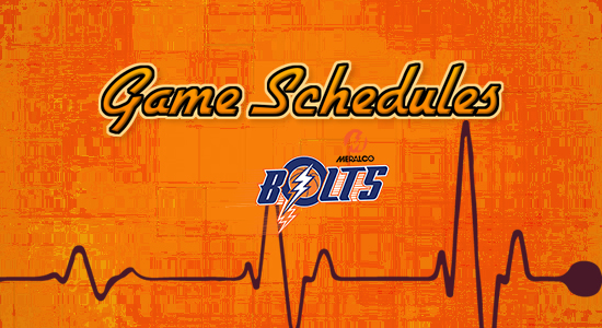 List: Meralco Bolts Game Schedules 2017-2018 PBA Philippine Cup