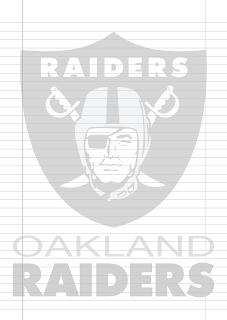 Folha Papel Pautado Oakland Raiders PDF para imprimir na folha A4
