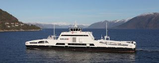 The MS Ampere is one of Norway's two fully electric ferries. The country plans to launch another 60 by 2021. (Credit: Nce Maritime Clean Tech) Click to Enlarge.