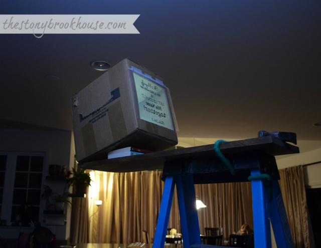 Setting up DIY Overhead Projector