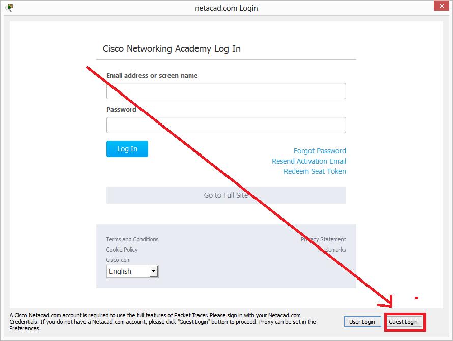 Register Netacad User - Cisco Packet Tracer 7 x XD   Muhammad Nazar
