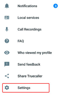 Truecaller settings
