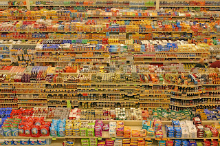 Miles of store shelves