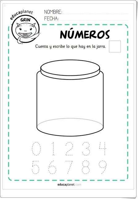 """Primeros números"" (Fichas de Educaplanet para Educación Infantil)"
