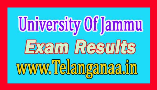 University Of Jammu BA/BSc/B.Com/BCA/BBA II Part-2016 Re-evaluation Results