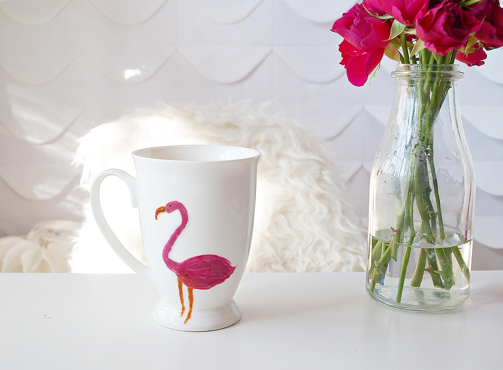 Dekoruoti Puodeliai Flamingas