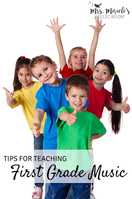 Tips for teaching first grade music: Activities and strategies to make your elementary music lessons fun and engaging!