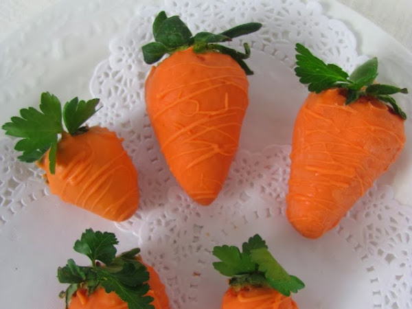 Faux Carrots (They're Really Strawberries)