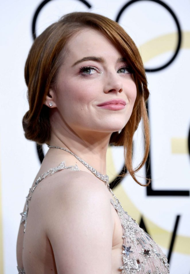 Emma Stone – 74th Annual Golden Globe Awards in Beverly Hills