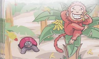dongeng Kebun Pisang Si Monyet dan Kura-Kura