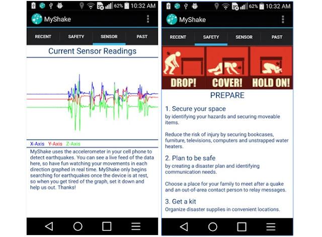 myshake android app
