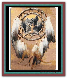 """Lady Wolf Dreamcatcher"" Witchykitt Designs"