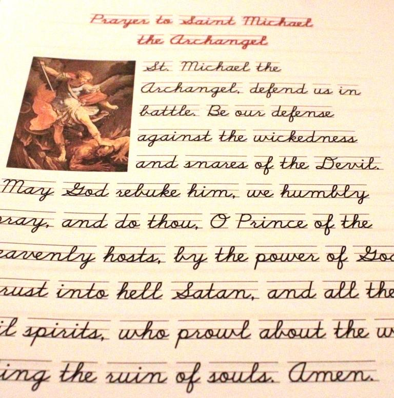 image about St. Michael the Archangel Prayer Printable named Exercising Content Hearts: Order Your Absolutely free Printable Prayer toward St