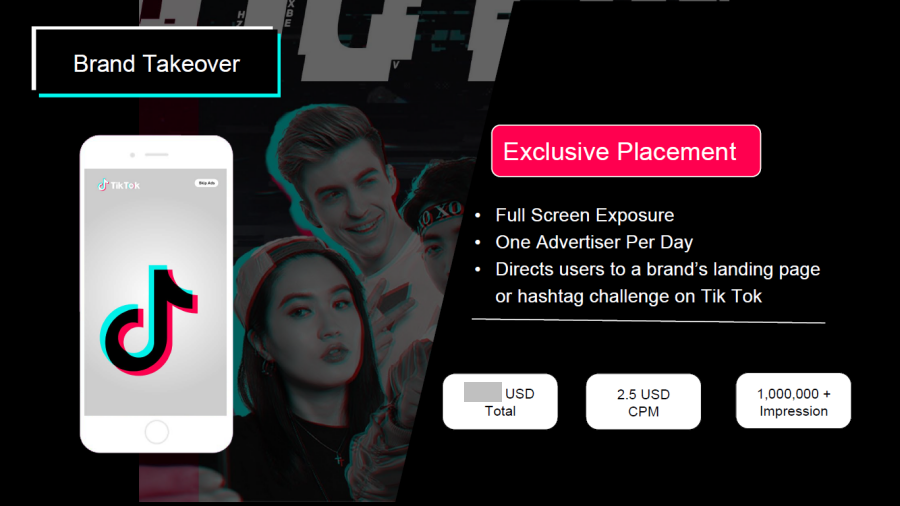 TikTok advertising: Brand Takeover