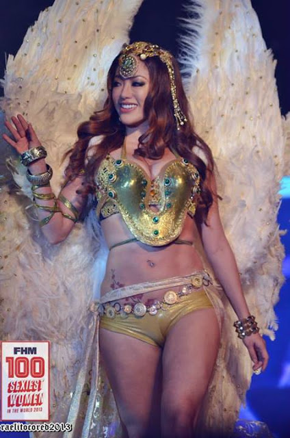 gwen garci at fhm philippines 100 sexiest 2013 victory party sweet angel outfit