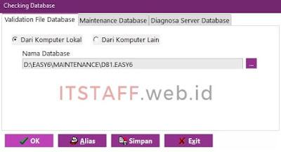 Validation File Database EASY6 - ITSTAFF.web.id