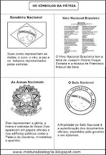 Símbolos Pátria imprimir colorir