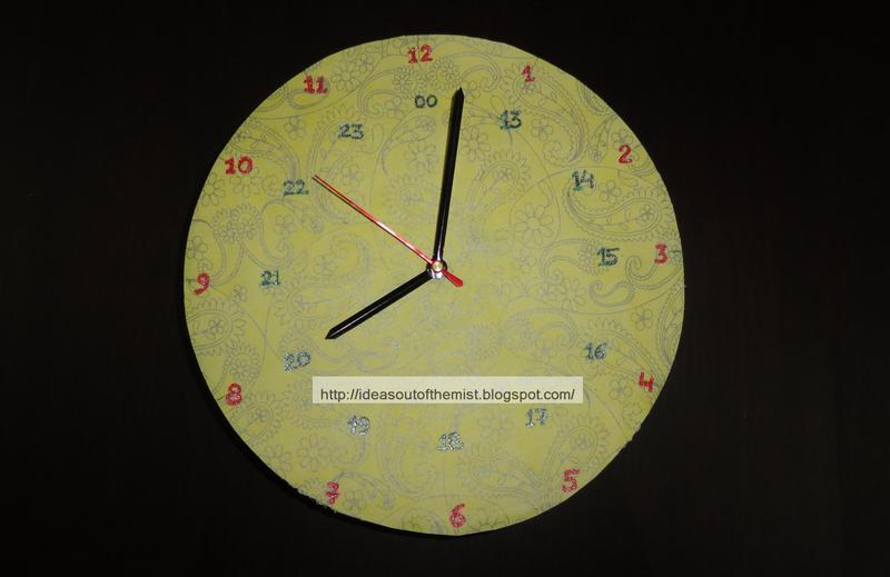 ideas out of the mist how to make a 12 24 hour clock of thermocol cardboard cd for school. Black Bedroom Furniture Sets. Home Design Ideas