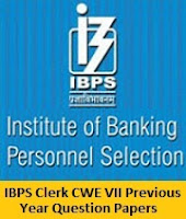 IBPS Clerk CWE VII Previous Year Question Papers