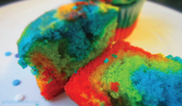 How to make tie dyed cupcakes