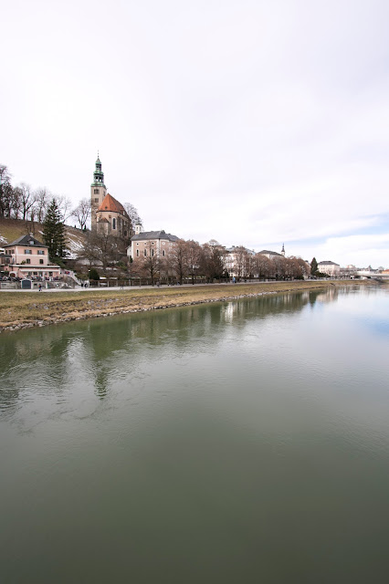 Panorama dal Ponte Müllner steg-Salisburgo