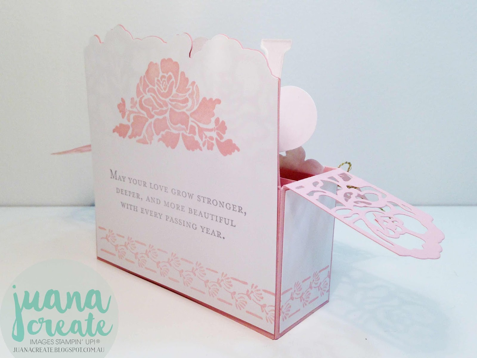 Juana Ambida: Floral Phrases Wedding Card in a Box