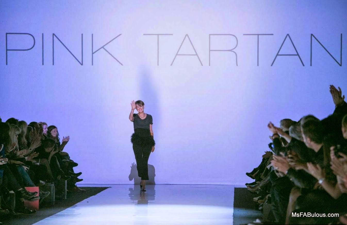 pink tartan designer