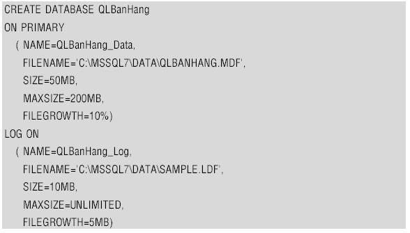 [Hệ quản trị cơ sở dữ liệu] Ngôn ngữ định nghĩa dữ liệu