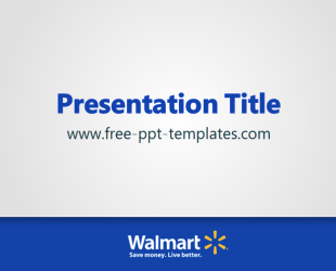 Walmart ppt template free powerpoint templates for Walmart powerpoint template