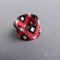 купить кольцо бисерное сплетенное из бисера мозаика колечко подарок