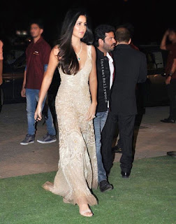 Katrina Kaif Glitters in a deep neck transparent glittering gown at wedding reception of daughter of Ronnie Screwvala